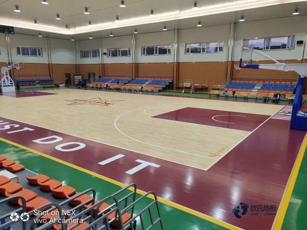 单层龙骨篮球木地板环保