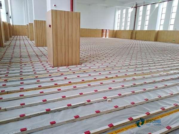 单龙骨篮球场馆木地板安装公司