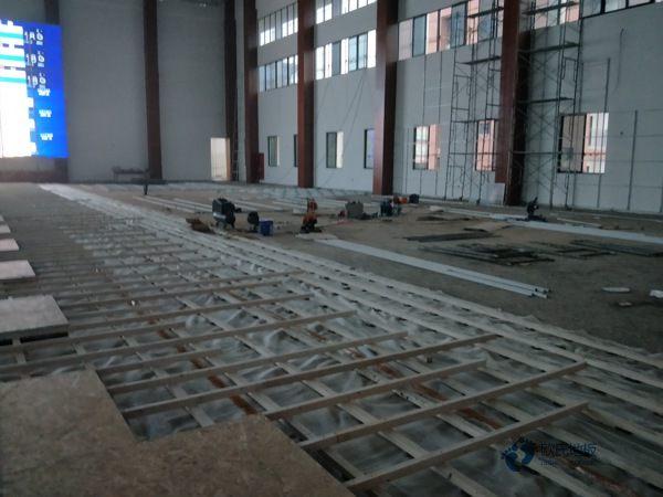 单龙骨篮球运动木地板安装公司
