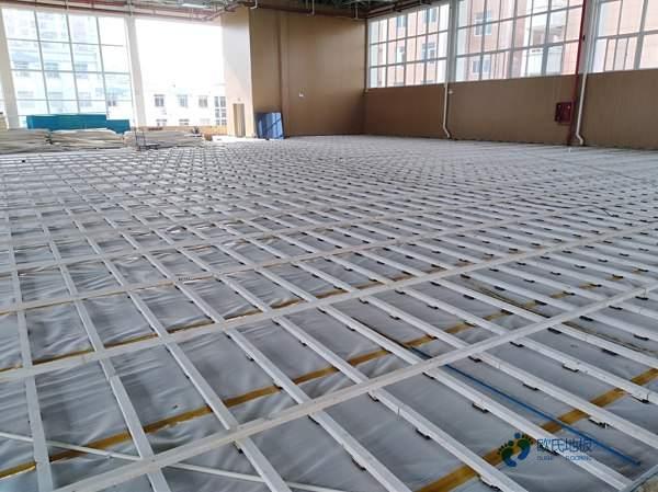 悬浮式篮球运动木地板工程施工