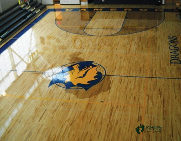 悬浮式篮球运动木地板清洁