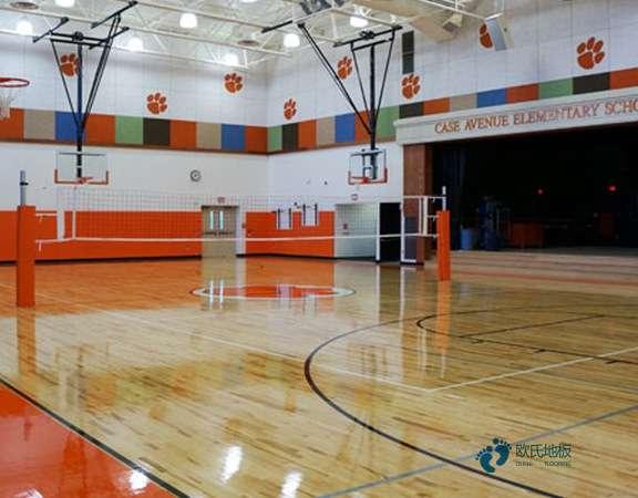 悬浮式篮球运动木地板清洁方案