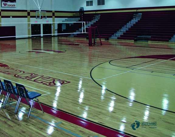 悬浮式篮球运动木地板滑怎么办
