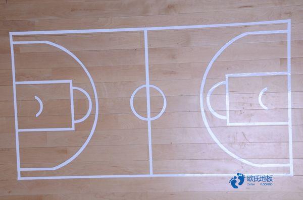 悬浮式篮球运动木地板面漆