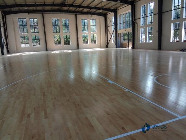 那里有专业篮球场地板