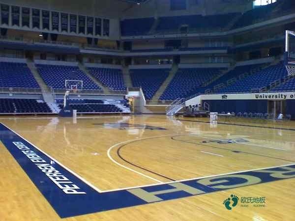 单层龙骨体育场馆木地板2